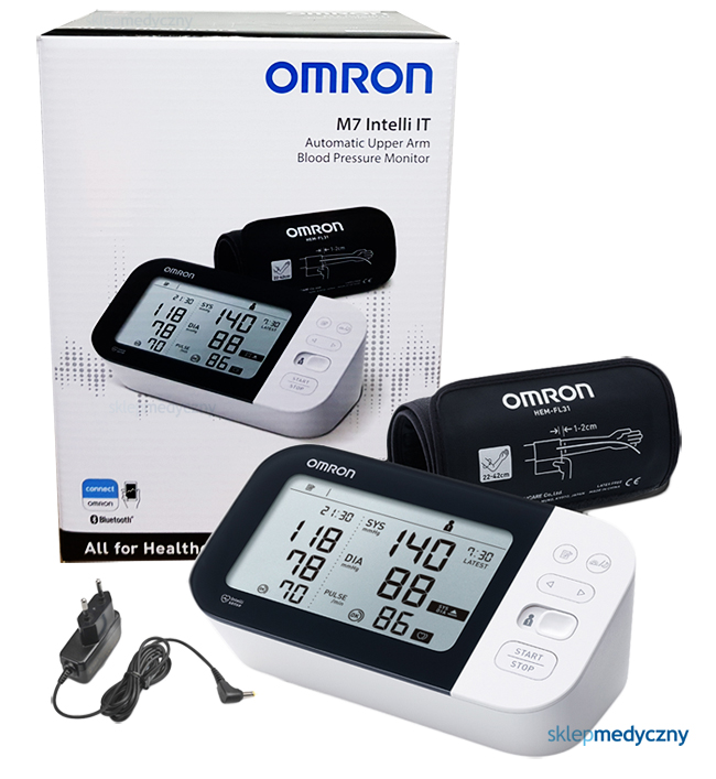 Ciśnieniomierz Omron M7 Intelli IT HEM-7361T-EBK HEM-7155T-EBK