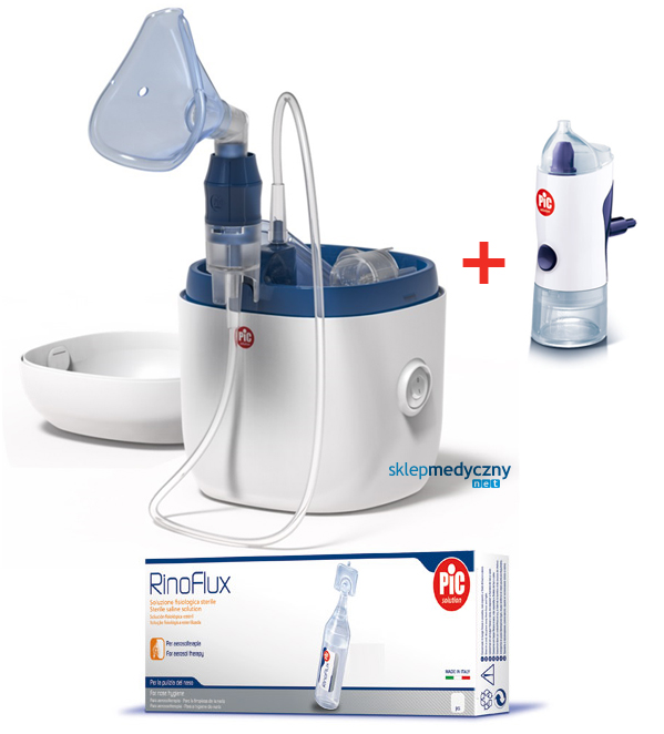 Inhalator tłokowy PIC Solution AiR Family Evolution + Rino Shower