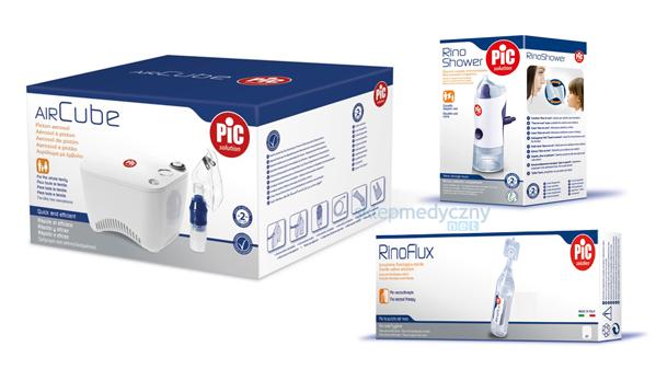 Inhalator tłokowy PIC Solution AiR Cube + Rino Shower