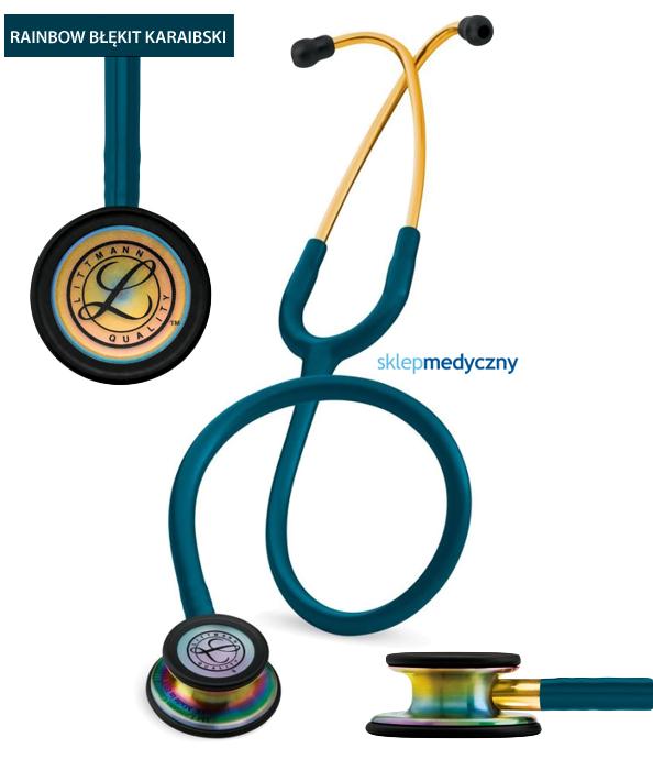 Stetoskop Littmann Classic III Rainbow Edition 5807 błękit karaibski