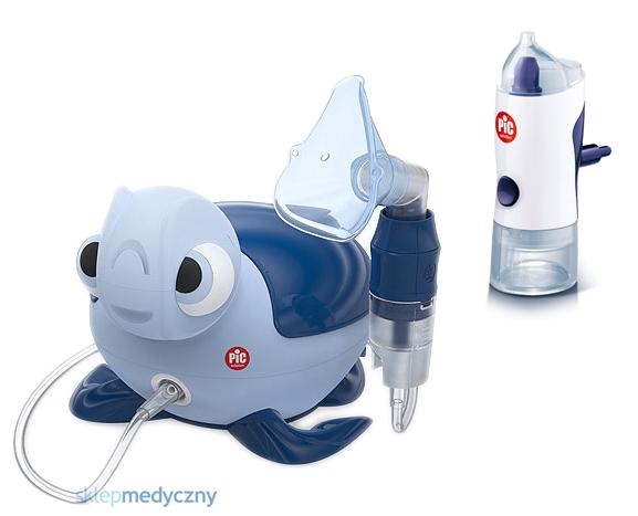 Inhalator PIC Solution MISS BIBI + irygator Rino Shower