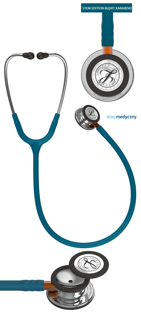 Stetoskop Littmann Classic III STEM Edition błękit karaibski 5874